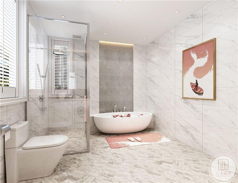 浴缸款式大方美观,融入法式浪漫元素。