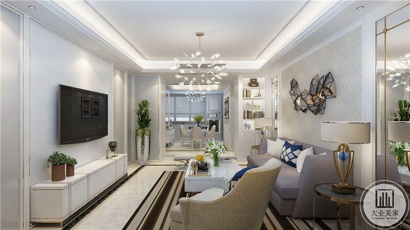 客厅侧面来看布置的十分精致,有层次感。