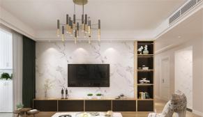 鲁能领秀城三室现代简约风格装修案例