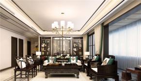 财富中心175平新中式装修案例