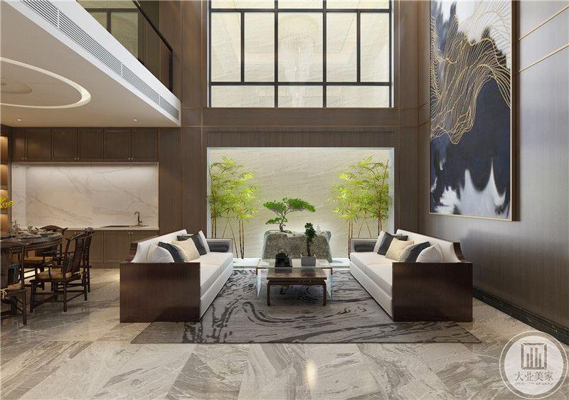 客厅装修效果图:从这里可以看到客厅布局装饰。