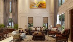 名悦山庄480平美式风格别墅装修案例