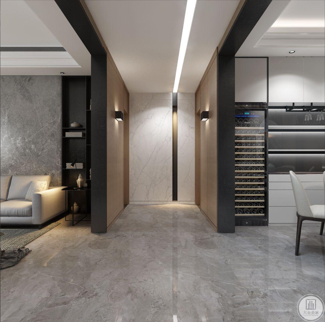 从这里可以看到卫生间和客厅空间的一部分。