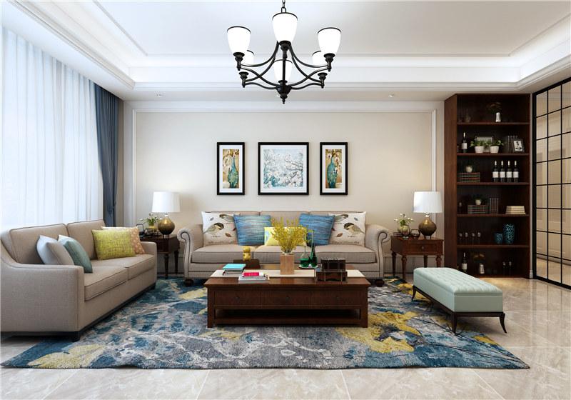 济南别墅装修新趋势,客厅中不放电视原来也这么实用又美观