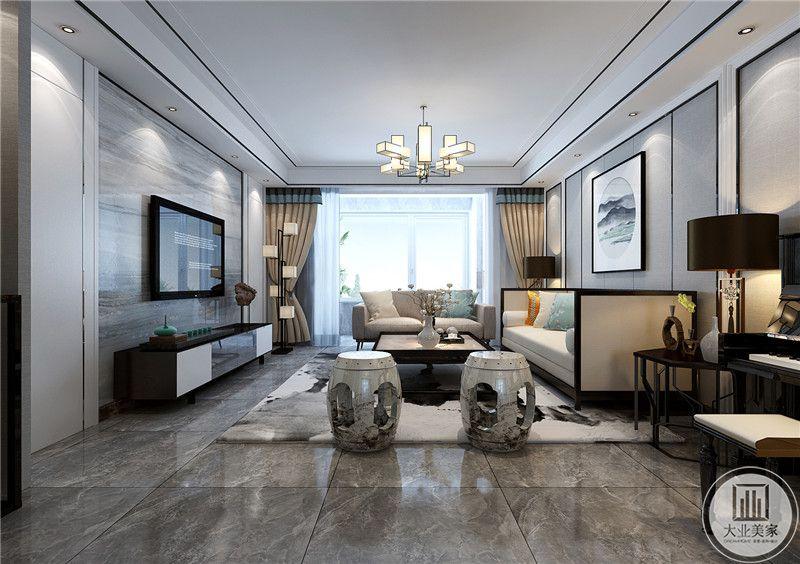 客厅阳台处采光极好,明亮的光线将客厅的亮度都提升了不止一个档次。