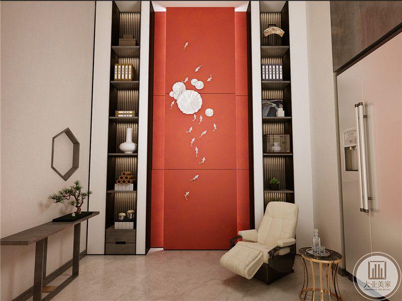 休息室与茶室运用了同样的粉色元素,使空间变得更明亮