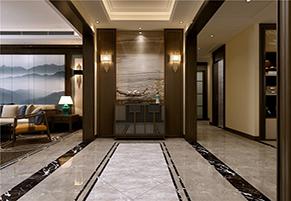 财富中心三期178平四室一厅大户型新中式装修效果图