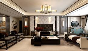 鼎秀花园140平中户型新中式+轻奢三室一厅装修效果图