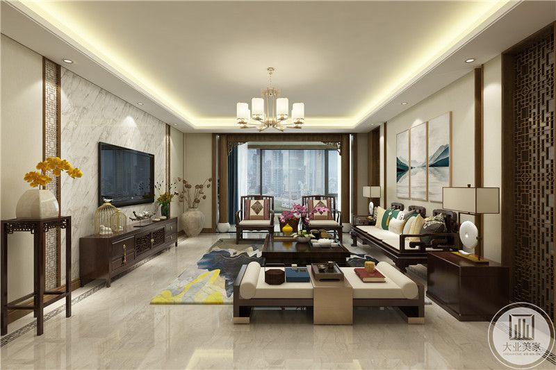客厅 是木质中式家具