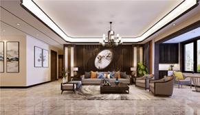 漫山天麓175平大户型四室二厅新中式装修效果图