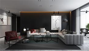漫山天麓175平大户型四室二厅现代轻奢装修效果图