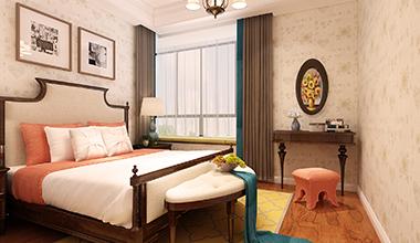 名悦山庄140平中户型四室二厅美式装修效果图