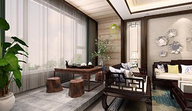 名悦山庄214平大户型五室二厅新中式装修效果图