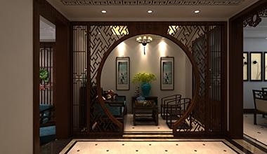 中海铂宫320平中式别墅装修设效果图