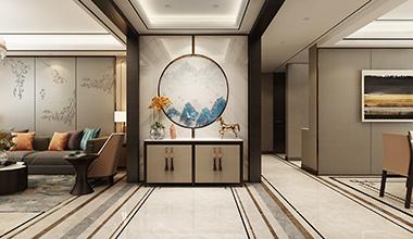 财富中心三期178平大户型四室二厅新中式轻奢装修效果图