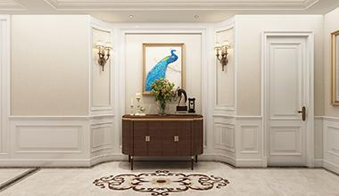海尔绿城麗园214平大户型四室二厅欧式装修效果图