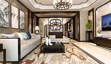 开元府210平大户型五室二厅新中式装修效果图