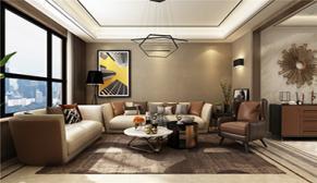 财富中心三期178平大户型四室二厅现代港式装修效果图