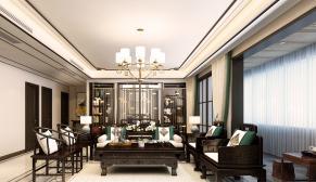 财富中心一期175平大户型新中式四室二厅装修效果图