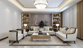 佛山静苑175平大户型四室二厅港式装修效果图