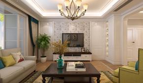 佛山静苑175平大户型四室二厅美式装修效果图