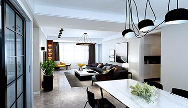 龙湖春江悦茗138平中户型三室两厅现代简约装修效果图