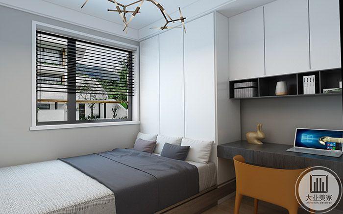 小休息室是灰白色调,简单大方
