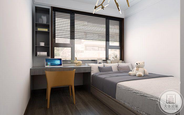 休息区简单可爱,一床一桌一椅