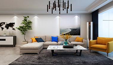 海珀天沅二期130平中户型三室两厅现代简约装修效果图