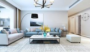 财富中心三期140平中户型三室二厅现代简约装修效果图