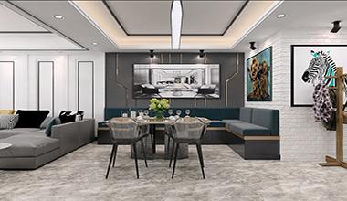 中建国玺台127平中户型现代简约三室二厅装修效果图