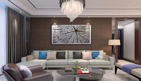 海尔云世界115平中户型三室两厅现代简约装修效果图