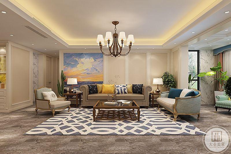 典型的美式家具,自由的气息洋溢,色彩多用浅色系