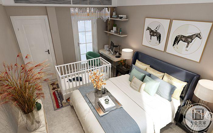 卧室顶视图能更好的看到这个空间的全景
