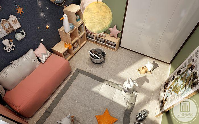游戏室顶视图可以看到游戏空间的全景