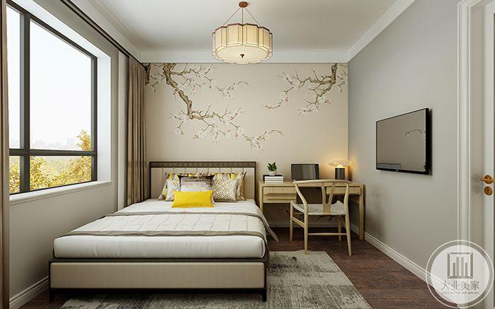 北卧室色调是淡淡的鹅黄,是小鸭子内里最柔软的毛色,让人感到卧室的柔软温暖。