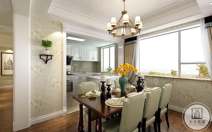从这个角度可以看到敞亮的白色调厨房