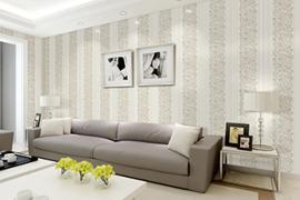济南天桥区装修:客厅壁纸颜色的选择和搭配技巧