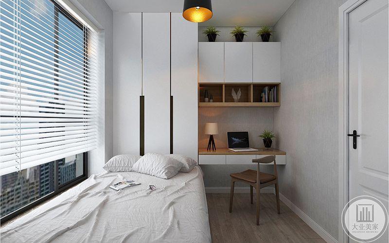 书房考虑榻榻米处理,兼顾卧室和书房,最大限速的利用空间。