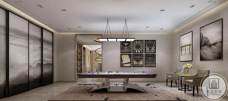 桌球厅设计时尚潮流