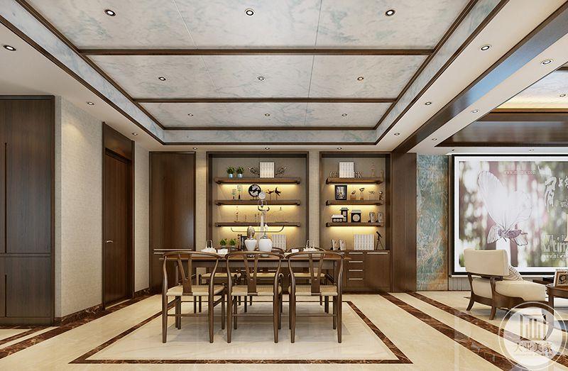餐厅是浅色的木制六人桌和木椅,整体柔和的木色使整个家都变得温柔