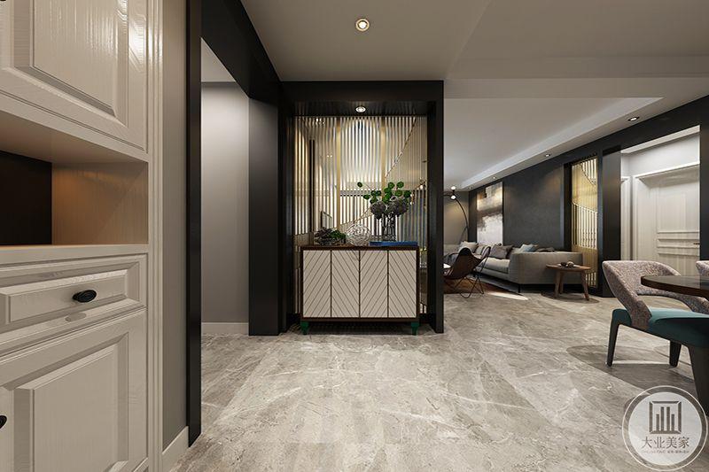 空间设计中追求自由,取消多余装饰,墙面、地面、家具陈设,造型简洁,工艺精细。