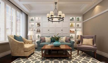 中海铂宫360平美式风格装修设计效果图