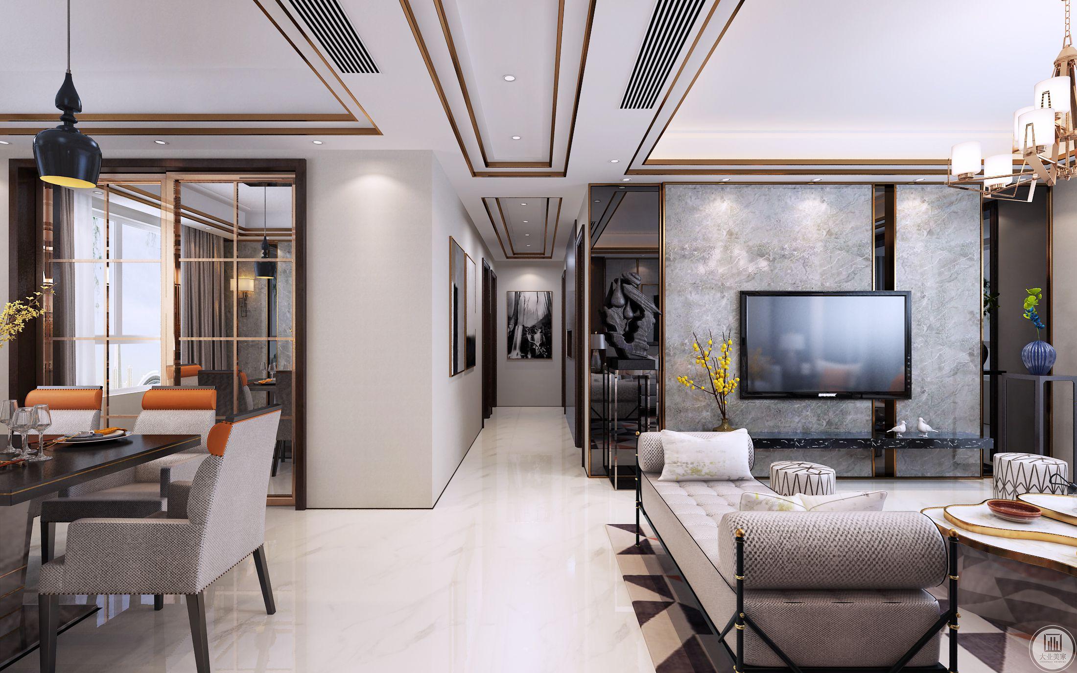 客厅 不仅注重居室的实用性,而且还体现出了工业化社会生活的精致与个性