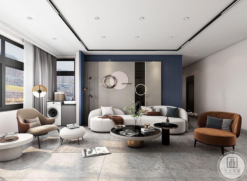 沙发背景墙采用了两层造型,独特美观沙发背景墙采用了两层造型,独特美观