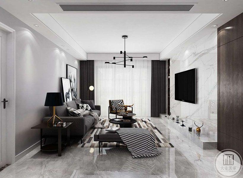 1.这套案例整体用的是黑白灰色调的经典设计