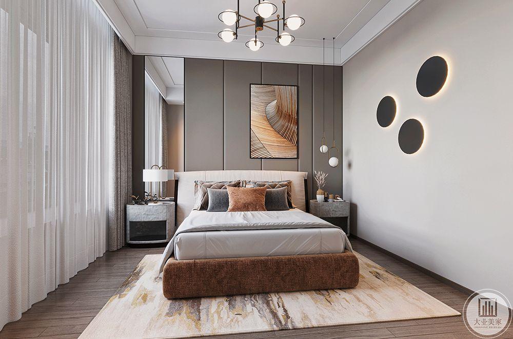 以柔软的床品让居住者有静谧舒适的体验感
