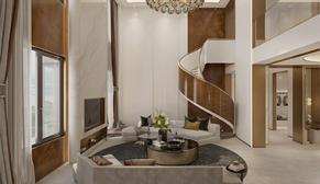佛山静院别墅500平港式轻奢风格装修设计