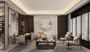 杨柳春风别墅350平轻奢新中式风格装修