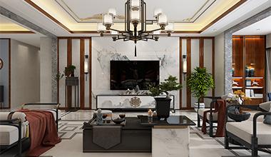 济南院子230平中式风格装修设计